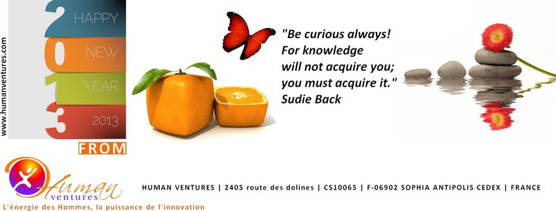 Human Ventures_Voeux 2013